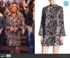 b1165dae6cac Wendy s black snake skin print dress on The Wendy Williams Show