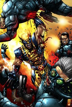 Wolverine, born James Howlett and often simply called Logan, is a Marvel Comics Anti-hero and a member of the X-Men as well as the New Avengers. Pencils by: Joe Quesada Inks by: Danny Miki Colors b. Wolverine Comics, Logan Wolverine, Marvel Comics Art, Logan Xmen, Comic Book Characters, Marvel Characters, Comic Character, Comic Books Art, Comic Art