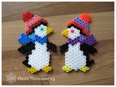 Süße Pinguine aus Bügelperlen