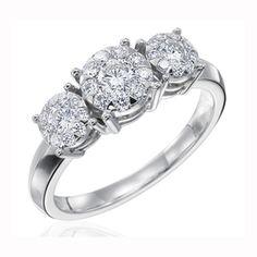Four Prong Diamond Ring, MBQ27R-1 #WeddingRings #EngagementRings #DiamondRings #Mémoirejewelry #Mémoire