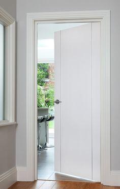Contemporary Internal Doors, White Internal Doors, White Wooden Doors, Door Stripping, Home Door Design, Inside Doors, Fire Doors, Wooden Door Hangers, Patio Doors
