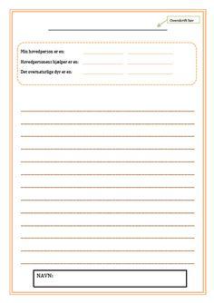 Skriveøvelser Bullet Journal, School, Danish Language, First Grade