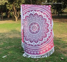 Pink Rangoli Ombre Large Roundie - 6 Inch Border