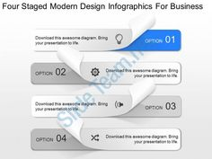 fz four staged business option infographics powerpoint template Slide01