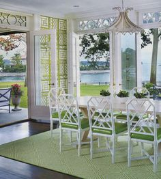 China Seas Lyford Trellis wallpaper. Interior design by Eugenie Niven Goodman. Image courtesy of Connecticut Cottages and Gardens