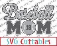 Baseball Mom svg cut file