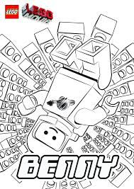 Benny Is A Spaceman And Character Who Loves Spaceships Have Fun With This Amazing The Lego Movie Coloring Page
