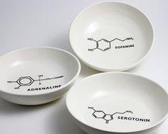 Chemistry Molecule Bowls by LLTownleyCeramic