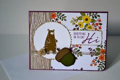 Autumn greeting card// Fall stationary// Hello greeting cards by TheRoundedCorner on Etsy