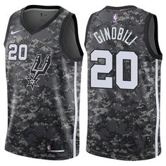 0ef939e88 Nike Spurs  20 Manu Ginobili Camo NBA Swingman City Edition Jersey