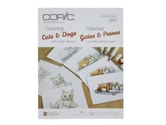 The Coloring Cats & Dogs with Copic Markers book by Marianne Walker is a part of our Coloring Foundations Series. This book is perfect for any beginner or intermediate artist who wants to improve their Copic techniques while learning to color animals better. It will teach you how to smoothly color, blend, add texture, and create fur in a variety of lengths. This book includes Spanish and English translations on each page. Includes  10 fully illustrated step-by-step tutorials Line art tha...