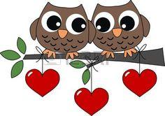 hiboux: deux hiboux doux dans l'amour