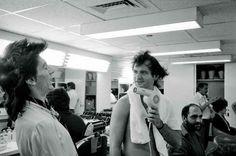 Ronnie Wood and Bill Murray by Ken Regan, 1978