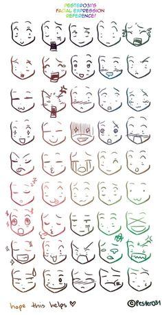 reference on drawing chibi faces Anime/Manga expresiones.A reference on drawing chibi faces on drawing chibi faces Anime/Manga expresiones.A reference on drawing chibi faces Anime/Manga expresiones. Drawing Face Expressions, Drawing Expressions, Drawing Faces, Chibi Drawing, Anime Faces Expressions, Simple Face Drawing, Anime Face Drawing, Anime Drawing Styles, Anime Drawings Sketches