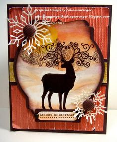 PP171 Christmas Deer- Three Challenges in One  by Julie Gearinger - Cards and Paper Crafts at Splitcoaststampers