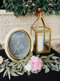photo: Merari Photography; Love the gold, pink and black color palette!