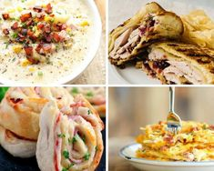 Make the post-holiday clean up less of a hassle. Throw that leftover ham in a tasty new recipe! Easter Appetizers, Easter Dinner Recipes, Easy Holiday Recipes, Appetizer Recipes, Pork Recipes, New Recipes, Good Food, Yummy Food, Tasty
