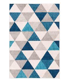 Look what I found on #zulily! Blue Mystic Modern Geometric Rug #zulilyfinds