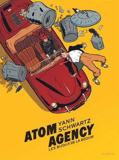 Couverture Atom agency tome 1 + ex-libris offert Comics Illustration, Illustrations, Comic Books Art, Comic Art, Book Art, Ligne Claire, Bd Comics, Story Arc, Comic Drawing