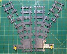 Lego Train Tracks, Lego City Train, Lego Videos, Hacks Videos, Lego Track, Walt Disney, Lego Winter Village, Lego Sculptures, Lego Room