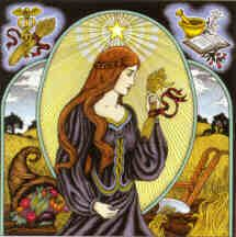 Visionary Art, Virgo Woman Art Print. Find in-depth info on Virgo traits & personality @ http://www.buildingbeautifulsouls.com/zodiac-signs/western-zodiac/virgo-star-sign-traits-personality-characteristics/