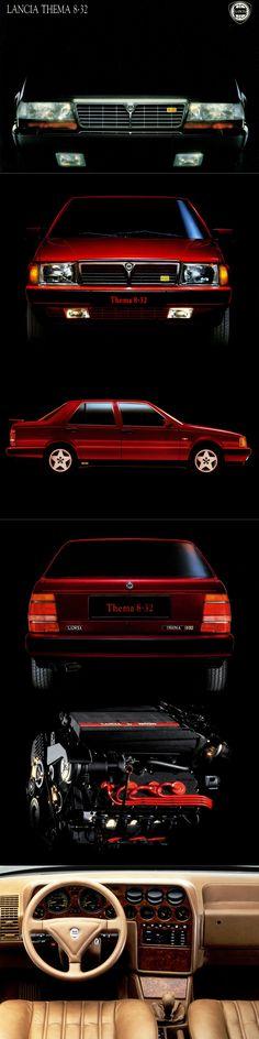 1987 Lancia Thema 8.32 / Ferrari 3.2l V8 / red / Italy / 17-303
