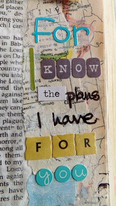 "Faithfully Mapping My Way: Open the Bible and point method.  One of my favorite Bible verses; Jeremiah 29:11, ""For I know the plans I have for you...""  art journaling Bible, #journalingBible, #Biblemarginalia"