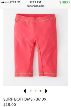 Apparently mini Boden brand is good for girls with a tiny tush. These surf capris look cool