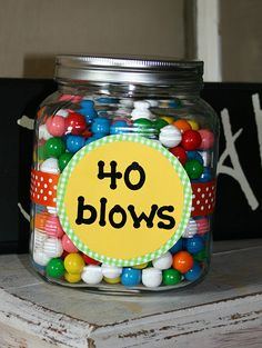 40th birthday gift... my sister in laws b-day is tomorrow, I have to make this!
