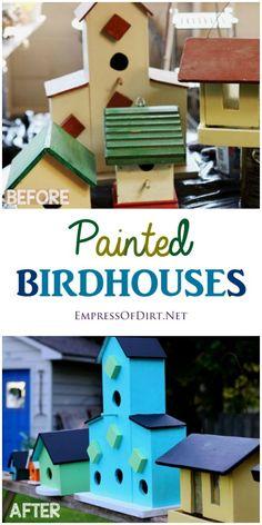 Give your garden a makeover with some colourful birdhouses! It's easy to do with the right craft paints.