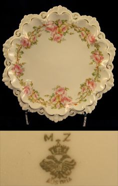 Rs Prussia Related Austria Plate with Vining Roses