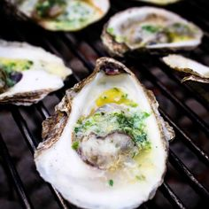 Grilled oysters with herbs and butter