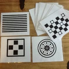 Black and white visual cards to stimulate your infant :) Print them from www.brillkids.com then laminate them!