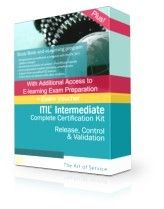 ITIL® Intermediate Release, Control and Validation (RCV) Complete Examination Package   45 days  access to elearning 45 days access to online exam preparation program Prepaid Exam Voucher + Free 60 Day enrolment extensions to both eLearning and exam prep courses + Free advanced trainer support