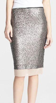 Sparkly Pencil Skirt ... So unique and pretty