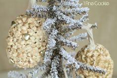 DIY Popcorn Ornaments by 1 Fine Cookie,  flavored, popcorn, ball, treats, ornaments, hollow, filled, treat, hanging, gold, silver, holiday, christmas, sprinkles, marshmallow, snacks, edible, hanukkah, balls, filled,  http://www.1finecookie.com/2013/12/popcorn-ornament-balls-filled-holiday-surprises/