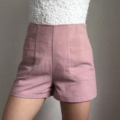j2p Pants - Pink high waisted shorts on Poshmark