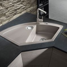 Corner Sink, Home Renovation, Home Organization, Modern Design, Sweet Home, Cleaning, Kitchens, Home Decor, Kitchen Sinks