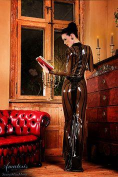 ScaryMissMary Latex-Gown (Black-Smoky-Back) by AmatorisLatexCouture.deviantart.com on @deviantART