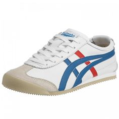 Onitsuka Tiger Mexico 66 White Blue Red Leather Mens Trainers