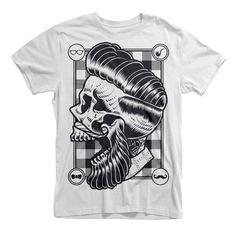Hipster Skull Tee shirts