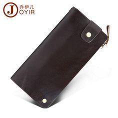 2017 Genuine Leather Men Wallets Zipper Design Business Male Wallet Fashion Purse Card Holder Long Clutch Wallets 9335