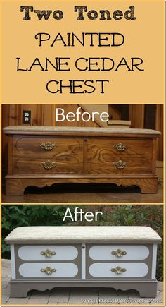 Two Toned Painted Lane Cedar Chest by virginiasweetpea.com || @spaula