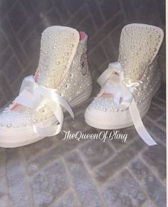 Wedding converse shoes & swarvoski crystals