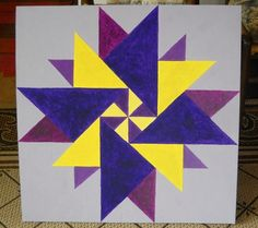 2' x 2' barn quilt by deb