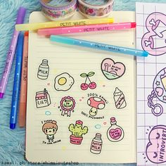 Each sticker pack contains 12 glossy transparent planner-friendly stickers inside! <3 Original artwork by Chichi Romero / Little Miss…