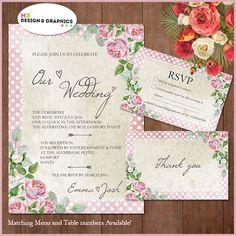 MB Design and graphics: Floral wedding set part 1