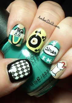 recreation of Nicole gets nailed blog's 50's inspired nails