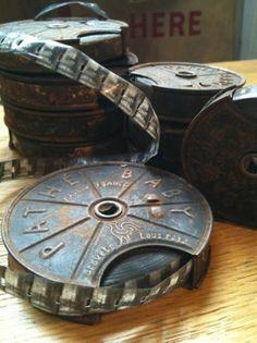 Vintage Reels of Film Movie Reels, Film Reels, Old Movies, Vintage Movies, Vintage Antiques, Vintage Items, Vintage Cameras, Movie Theater, Cool Stuff