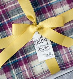 No Sew Blanket Scarf with Printable Gift Tags
